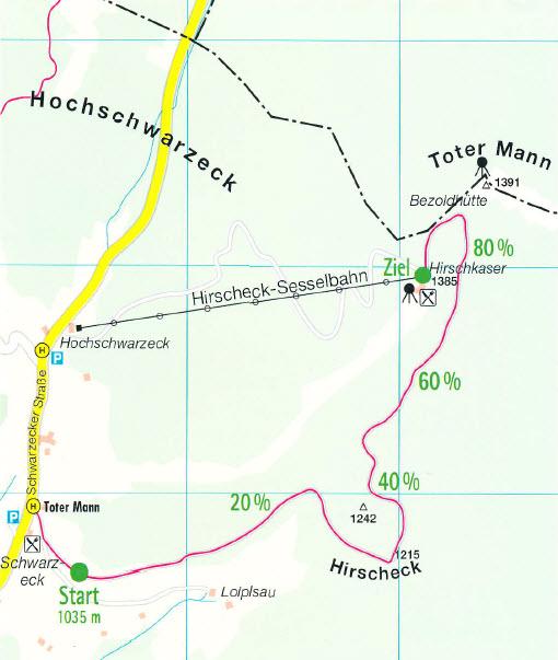 Karte Wander Teststrecke
